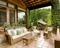 Terrasse Terrassengestaltung Sichtschutz Sonnenschutz Gartenmobel